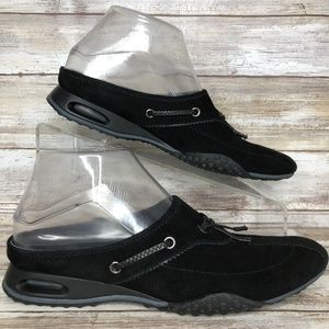 Cole Haan G Series 7.5AA Black Suede Mules